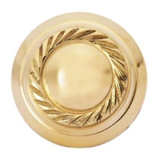 Copper Mountain Hardware Georgian Roped 1 1/4 in. Polished Brass Round Cabinet Knob SH112US3L