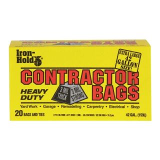 Iron Hold 42 Gal Contractor Trash Bags (618895)   20 Count   Trash Bags & Holders