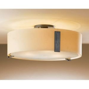 Hubbardton Forge HUB 126751 08 H216 Impressions Burnished Steel  Semi Flush Mount Lighting