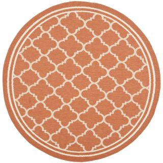 Safavieh Indoor/ Outdoor Courtyard Terracotta/ Bone Rug (710 Round