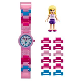 LEGO Friends Stephanie Kids Interchangeable Links w/Mini Doll Watch