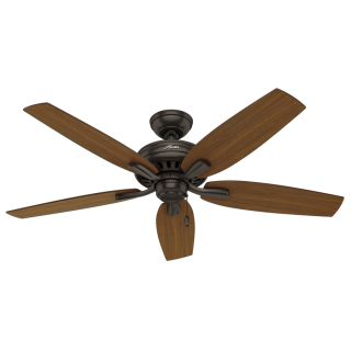 Hunter Newsome 52 in Premier Bronze Downrod or Close Mount Indoor/Outdoor Residential Ceiling Fan