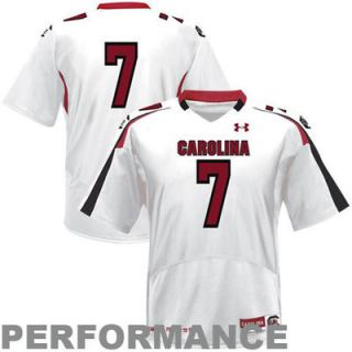 Under Armour South Carolina Gamecocks #7 Youth Replica Football Performance Jersey   White