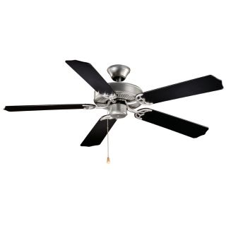 Vaxcel Lighting FN52288BS Medallion 5 Blade Indoor Ceiling Fan in Flash Silver   blades Included