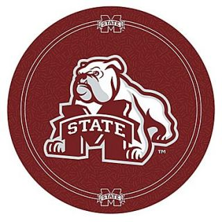 Trademark Global NCAA 28 Solid Wood/Chrome Pub Table, Brown, Mississippi State University