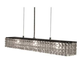 BAZZ Glam Zircon Collection 4 Light Hanging Chrome Pendant DISCONTINUED LU2036CC