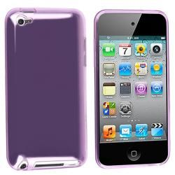 Clear Light Purple TPU Rubber Case for Apple iPod Touch   13247963