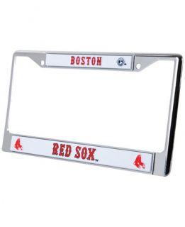 Rico Industries Boston Red Sox Chrome License Plate Frame   Sports Fan