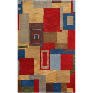 Ken Multi Contemporary Wool Geometric Area Rug (5 x 8)   16862441