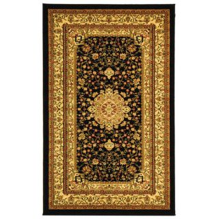 Safavieh Lyndhurst Collection Mashad Black/ Ivory Rug (33 x 53