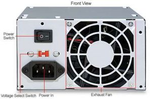 Diablotek PSDA500 DA Series ATX Power Supply   500W, Dual 80mm Fans, 20+4 Pin