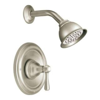MOEN Kingsley Posi Temp Single Handle 1 Spray Shower Faucet Trim Kit in Brushed Nickel (Valve Not Included) T2112BN