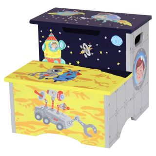 Fantasy Fields Outer Space Kids Step Stool with Storage   Step Stools