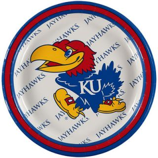 Kansas Jayhawks 8 Pack Lunch Plate Set