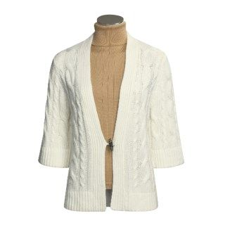 Joan Vass Wool Cashmere Cardigan Sweater (For Women) 1025M 63