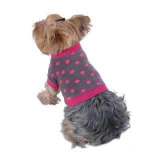 Insten Pet Dog Puppy Apparel Clothes Warm Cozy Gray Polka Dots Fleece