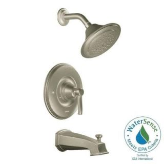 MOEN Rothbury Posi Temp Single Handle 1 Spray Tub and Shower Faucet Trim Kit in Brushed Nickel (Valve Not Included) TS2213EPBN   Mobile