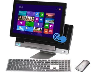 "ASUS Desktop PC P1801 B054K Intel Core i3 3220 (3.30 GHz) 4 GB DDR3 1 TB HDD 18.4"" Touchscreen PC Station: Genuine Windows 8 Tablet: Android Jelly Bean 4.1"