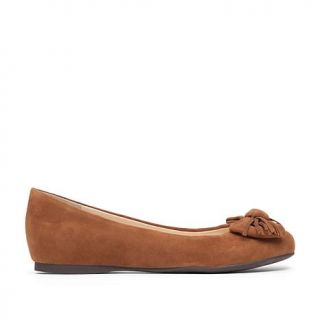 Jessica Simpson Madian Suede Fringed Bow Flat with Hidden Wedge   8257755