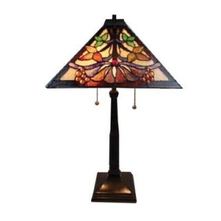 Radionic Hi Tech Nevaeh 24.00 in. Bronze Hand Rolled Art Glass Table Lamp DT_TL_TT14252_RHT