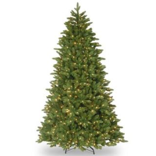 National Tree Company 14 ft. Ridgewood Spruce Slim Artificial Christmas Tree with Clear Lights PERG4 315 140