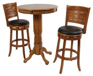 Boraam Oak Sumatra 3 pc. Pub Table Set   Pub Tables & Sets