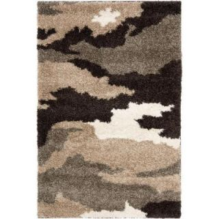 Safavieh Florida Shag Beige/Multi 3 ft. 3 in. x 5 ft. 3 in. Area Rug SG453 1391 3
