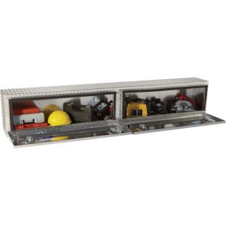 Locking Aluminum Top-Mount Truck Box — 96in. x 12in. x 16in. Size, 2-Doors  Top Mount Boxes
