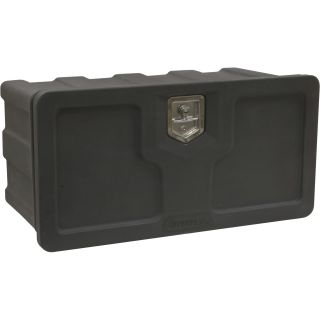 Buyers Products Poly Underbody Truck Box — Black, 48in.L x 18in.D x 18in.H, Model# 1717110  Underbody Truck Boxes