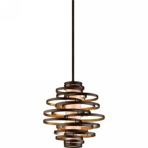 Corbett Lighting COR 113 42 Vertigo Bronze/Gold Leaf  Pendants Lighting