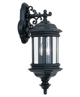Sea Gull Hill Gate Outdoor Hanging Wall Lantern   19.75H in. Black
