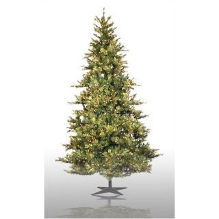 Country Pine 9 Green Slim Pine Artificial Christmas Tree with 950 Pre