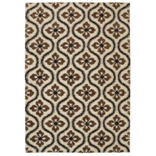 Mohawk Home Augustine Tile Dark Earth 5 ft. x 8 ft. Area Rug 489083
