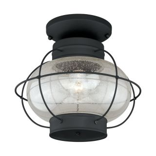 Cascadia Lighting Chatham 13 in W Textured Black Outdoor Flush Mount Light