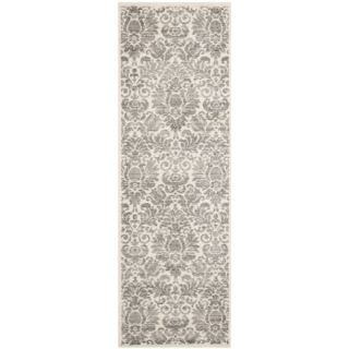 Safavieh Porcello Damask Ivory/ Grey Rug (24 x 67)   14668270