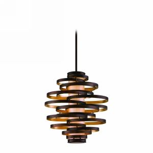 Corbett Lighting COR 113 43 F Vertigo Bronze/Gold Leaf  Pendants Lighting