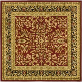 Safavieh Lyndhurst Red and Black Square Indoor Machine Made Area Rug (Common 8 x 8; Actual 96 in W x 96 in L x 0.5 ft Dia)