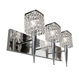 BAZZ Glam Sephora 3 Light Chrome Square Vanity Light
