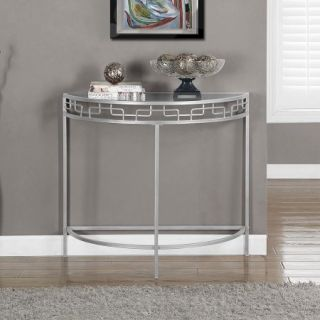 Metal 36 Hall Console Accent Table, Silver