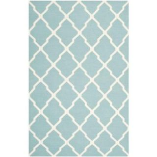 Safavieh Dhurries Light Blue/Ivory 8 ft. x 10 ft. Area Rug DHU634C 8