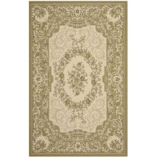 Safavieh Courtyard Cream/Green Outdoor Rug