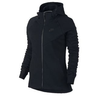 Nike NSW Tech Fleece Full Zip Hoodie   Womens   Casual   Clothing   Black/Black