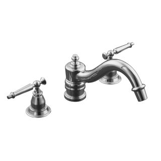 KOHLER Antique Polished Chrome 2 Handle Bathtub Faucet Bathtub Faucet Trim Kit