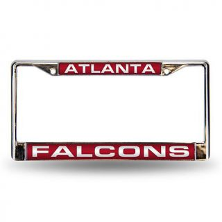 Red Laser Chrome License Plate Frame   Atlanta Falcons   7574699