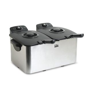 Elite Platinum EDF 3060 6 quart Deep Fryer, Stainless Steel   18535629