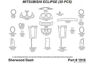 2010, 2011 Mitsubishi Eclipse Wood Dash Kits   Sherwood Innovations 1916 R   Sherwood Innovations Dash Kits