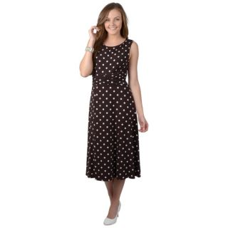 Jessica Howard Womens Sleeveless Polka dot Dress