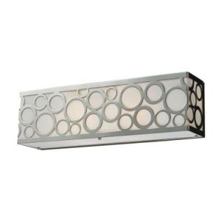 Titan Lighting Retrovia 2 Light Polished Nickel Wall Vanity Light TN 7542