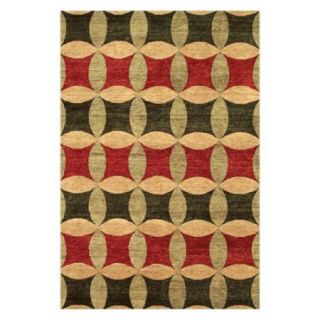 Noble House Legacy Area Rug   Rust/Green/Gold