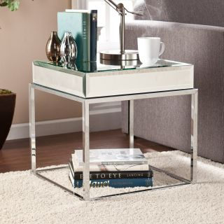 Southern Enterprises Dana Mirrored End Table   End Tables